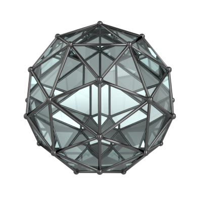 Icosphere-glass-frame-symmetric-3d