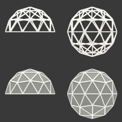 Icosphere-rect-frame-all-geodesic-dome-transp-white