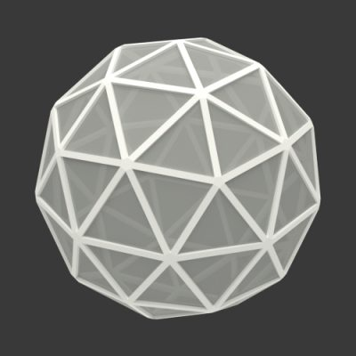 Icosphere-rect-frame-geodesic-dome-3d