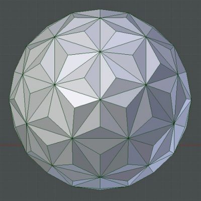 Icosphere-triangles-ball-shell