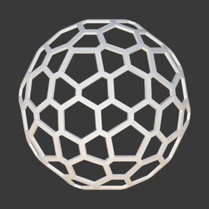 Honeycomb Sphere – Icosahedron Decor Ball